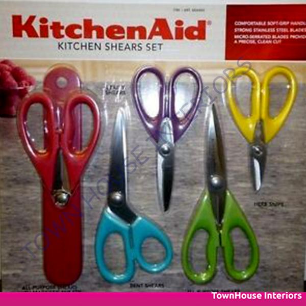 New Kitchenaid Set 5 Kitchen Shears Cook Series Magnetic Utility